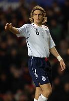 Photo: Paul Greenwood.<br />England v Spain. International Friendly. 07/02/2007. Englands Johnathan Woodgate acknowledges his team mates