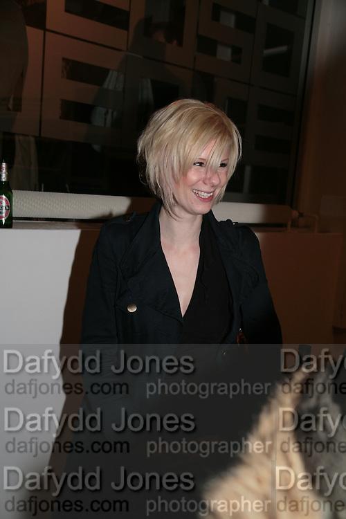 Elisa Ruff, Planit- Exhibition of work by Ian Munroe. Haunch of Venison. London. 1 March 2007.  -DO NOT ARCHIVE-© Copyright Photograph by Dafydd Jones. 248 Clapham Rd. London SW9 0PZ. Tel 0207 820 0771. www.dafjones.com.