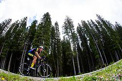 Luka Pajek competes at Sloveian Road Cycling Championship Time Trial 2020 Gorje - Pokljuka, on June 28, 2020 in Pokljuka, Slovenia. Photo by Matic Klansek Velej / Sportida