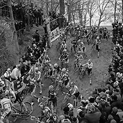 The first lap of a cyclocross race presents spectators with a frenetic, chaotic swarm of racers charging to the front, or struggling to not be left behind.