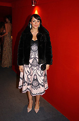 """Actress MARTINE McCUTCHEON at the 10th annual British Red Cross London Ball.  This years ball theme was Indian based - """"Yaksha - Yakshi: Doorkeepers to the Divine"""" and was held at The Room, Upper Ground, London on 1st December 2004.  Proceeds from the ball will aid vital humanitarian work, including HIV/AIDS projects that the Red Cross supports in the UK and overseas.<br /><br />NON EXCLUSIVE - WORLD RIGHTS"""