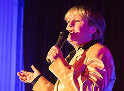 Old Town Hall, Stratford, London - 28 November 2015. Singers Marc Almond, Ronan Parke, Heather Peace and Asifa Lahore headline the Peter Tatchell Foundation's inaugural Equality Ball, a fundraiser for the foundation's LGBTI and human rights work, with guest of honour Sir Ian McKellen  joined by  Michael Cashman. PICTURED: Commedian Clare Summerskill.   //// FOR LICENCING CONTACT: paul@pauldaveycreative.co.uk TEL:+44 (0) 7966 016 296 or +44 (0) 20 8969 6875. ©2015 Paul R Davey. All rights reserved.