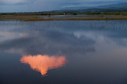 Cloud reflection in canal waters near Nyaung Shwe