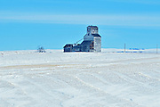 Old grain elevator in winter<br /> Horizon<br /> Saskatchewan<br /> Canada