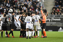 March 9, 2019 - Amiens, France - Willy DELAJOD (ARBITRE) - CARTON ROUGE - 09 SEHROU GUIRASSY (AMI) - ALTERCATION (Credit Image: © Panoramic via ZUMA Press)