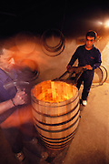 Coopers making wine barrels at Bodegas Muga in Haro, Rioja, Spain.