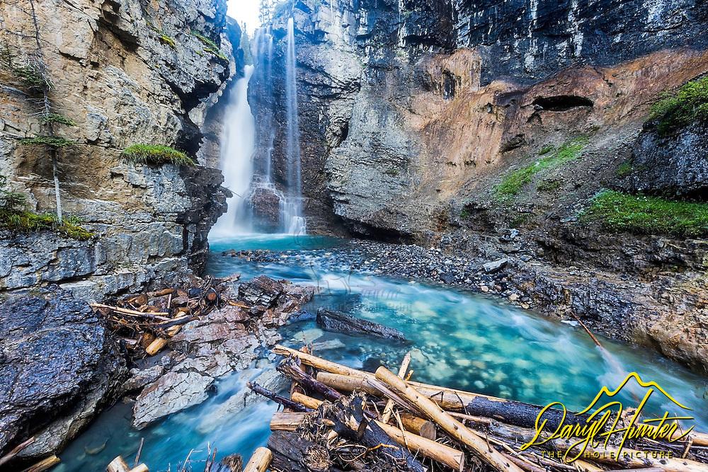 Upper Johnston Canyon Falls in Banff National Park.