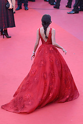 Sara Sampaio arriving at Les Fantomes d'Ismael screening and opening ceremony held at the Palais Des Festivals in Cannes, France on May 17, 2017, as part of the 70th Cannes Film Festival. Photo by Aurore Marechal/ABACAPRESS.COM