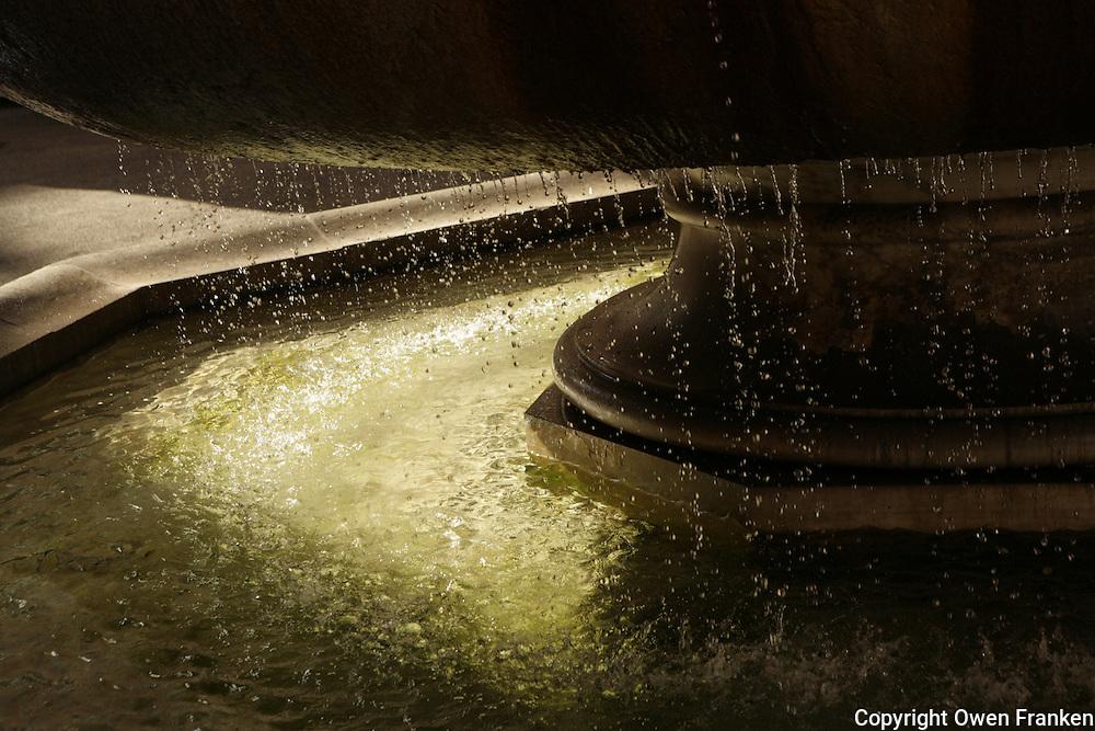 dripping water at a Roman fountain - photograph by Owen Franken