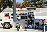 EZ Stop in Loudon has one of the lowest gas prices posted along Route 106 at the price of $1.53.9/gallon for regular unleaded on Sunday morning.  (Karen Bobotas/for the Laconia Daily Sun)