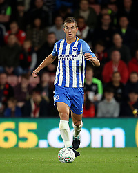 """Brighton and Hove Albion Uwe Hunemeier in action during the Carabao Cup, third round match at the Vitality Stadium, Bournemouth. PRESS ASSOCIATION Photo. Picture date: Tuesday September 19, 2017. See PA story SOCCER Bournemouth. Photo credit should read: Steven Paston/PA Wire. RESTRICTIONS: EDITORIAL USE ONLY No use with unauthorised audio, video, data, fixture lists, club/league logos or """"live"""" services. Online in-match use limited to 75 images, no video emulation. No use in betting, games or single club/league/player publications."""