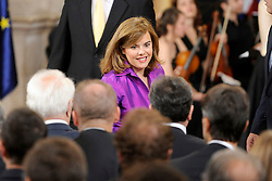 24.06.2015, Palacio Real, Madrid, ESP, Festakt zu 30 Jahre EU Mitgliedschaft Spaniens, im Bild Spanish Vice President Soraya Saenz de Santamaria (C) // attends the 30th Anniversary of Spain being part of European Communities at the Palacio Real in Madrid, Spain on 2015/06/24. EXPA Pictures © 2015, PhotoCredit: EXPA/ Alterphotos/ POOL/ Ricardo Garcia<br /> <br /> *****ATTENTION - OUT of ESP, SUI*****
