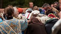 14.10.2015 wies Puchly woj podlaskie Swieto Opieki Matki Bozej ( Pokrowa ) n/z modlitwa podczas procesji fot Michal Kosc / AGENCJA WSCHOD