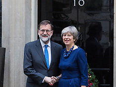2017-12-05 Spanish PM Mariano Rajoy visits British PM Theresa May at Downing Street