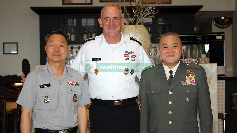 U.S., Japanese, South Korean Army Leaders Discuss Security Cooperation<br /> HONOLULU - Army Gen. Robert B. Brown, U.S. Army Pacific commander, held a security cooperation meeting with his South Korean and Japanese counterparts ahead of the 2017 Land Forces in the Pacific Symposium.