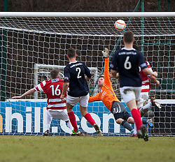 Hamilton's Andy Ryan misses an open goal..Hamilton 1 v 2 Falkirk, Scottish Cup quarter-final, Saturday, 2nd March 2013..©Michael Schofield.