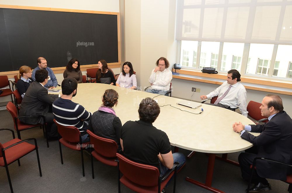 Meeting with Turkish Students at the Yale Medical School during Turkish Ambassador to the United States, His Excellency Namik Tan visit to Yale University   6 December 2012