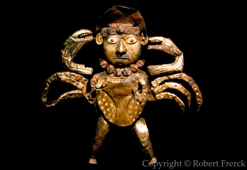 PERU, PREHISPANIC, GOLD Mochica; Lord of Sipan 'crab-man'