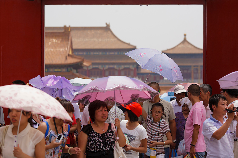 Crowds at the Forbidden City.