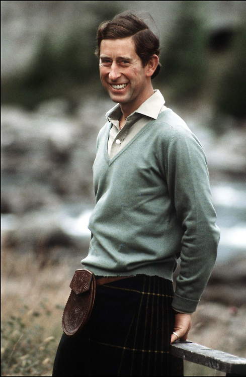 The Prince of Wales seen at Balmoral, Scotland during his honeymmon in August 1991. Photographed by Jayne Fincher