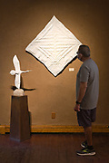 """""""Flying Folds"""" and 'Crane Unfolded"""" on display at Kay Contemporary Art in Santa Fe."""