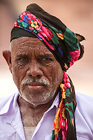 Indian men are famous for their moustaches and facial hair - and nowhere else in India is this cultivated more than in  Jodhpur, where it is almost raised to an art form.  This grisly character has interesting headwear as well.