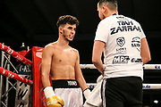 Boxen: Boxing Event by GWS Security, Cloppenburg, 19.10.2019<br /> Halbweltergewicht: Younes Zarraa (GER) - Adnan Kuduzovic (BIH)<br /> © Torsten Helmke