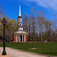"""""""Church at Greenfield Village""""<br /> <br /> Beautiful church on the village green at Greenfield Village in springtime!"""