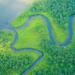 aerial view of  waterways, abstract and conceptual.