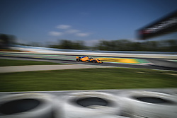 May 11, 2018 - Barcelona, Catalonia, Spain - FERNANDO ALONSO (ESP) drives during the second practice session of the Spanish GP at Circuit de Catalunya in his McLaren MCL33 (Credit Image: © Matthias Oesterle via ZUMA Wire)