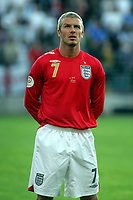 Photo: Paul Thomas.<br /> Estonia v England. UEFA European Championships Qualifying, Group E. 06/06/2007.<br /> <br /> David Beckham of England.
