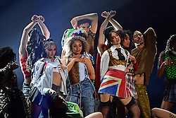 Dua Lipa (centre right) performs during the Brit Awards 2021 at the O2 Arena, London. Picture date: Tuesday May 11, 2021.