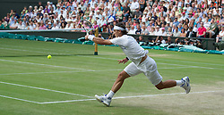 01.07.2011, Wimbledon, London, GBR, ATP World Tour, Wimbledon Tennis Championships, im Bild Rafael Nadal (ESP) in action during the Gentlemen's Singles Semi-Final match on day eleven of the Wimbledon Lawn Tennis Championships at the All England Lawn Tennis and Croquet Club. EXPA Pictures © 2011, PhotoCredit: EXPA/ Propaganda/ David Rawcliffe +++++ ATTENTION - OUT OF ENGLAND/UK +++++
