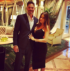 """Sofia Vergara releases a photo on Instagram with the following caption: """"Vegas week with my \u2764\ufe0f"""". Photo Credit: Instagram *** No USA Distribution *** For Editorial Use Only *** Not to be Published in Books or Photo Books ***  Please note: Fees charged by the agency are for the agency's services only, and do not, nor are they intended to, convey to the user any ownership of Copyright or License in the material. The agency does not claim any ownership including but not limited to Copyright or License in the attached material. By publishing this material you expressly agree to indemnify and to hold the agency and its directors, shareholders and employees harmless from any loss, claims, damages, demands, expenses (including legal fees), or any causes of action or allegation against the agency arising out of or connected in any way with publication of the material."""