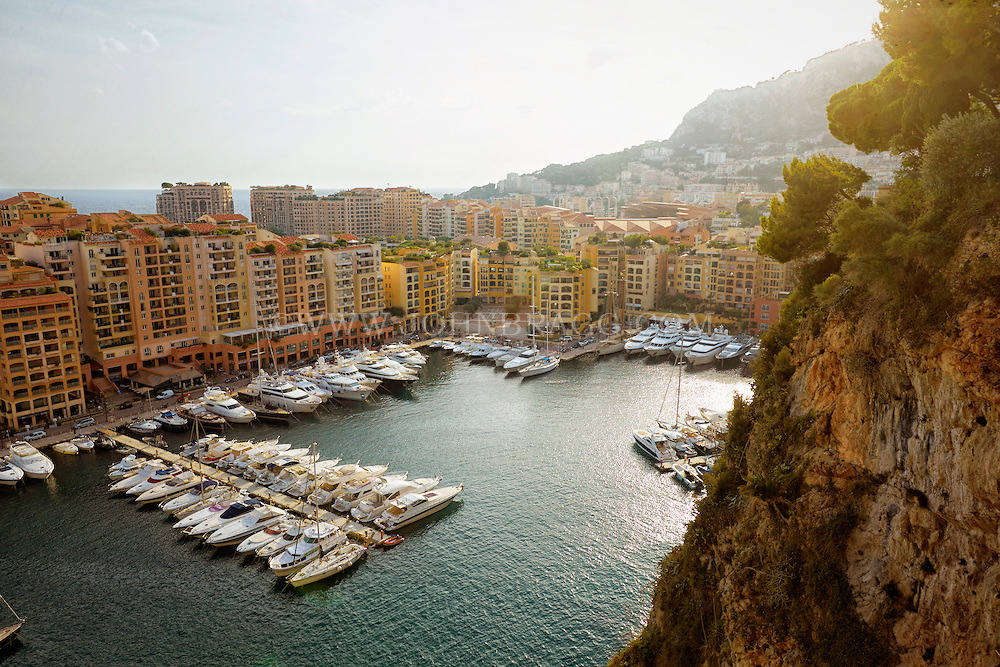 View of the Port of Fontvieille, Monaco, France.