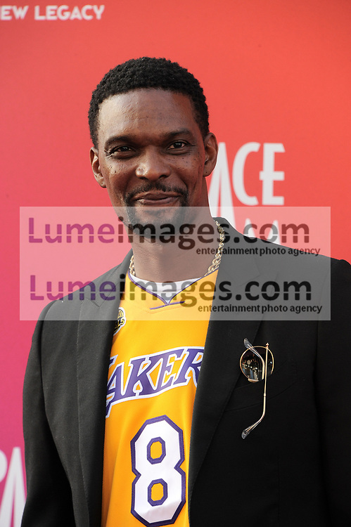 Chris Bosh at the Los Angeles premiere of 'Space Jam: A New Legacy' held at the Regal LA Live in Los Angeles on July 12, 2021.