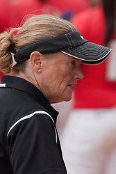15 April 2012:  Coach Melinda Fischer during an NCAA women's softball game between the Drake Bulldogs and the Illinois State Redbirds on Marian Kneer Field in Normal IL