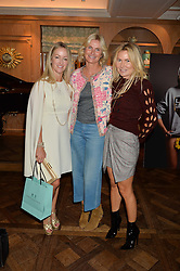 Left to right, ALISON HENRY, JANE YARROW and SAMANTHA HEYWORTH at the 3rd annual Gynaecological Cancer Fund Ladies Lunch at Fortnum & Mason, 181 Piccadilly, London on 29th September 2016.