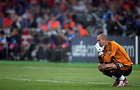 Photo: Paul Thomas.<br /> AC Milan v Liverpool. UEFA Champions League Final. 23/05/2007.<br /> <br /> Pepe Reina of Liverpool shows his dejection.