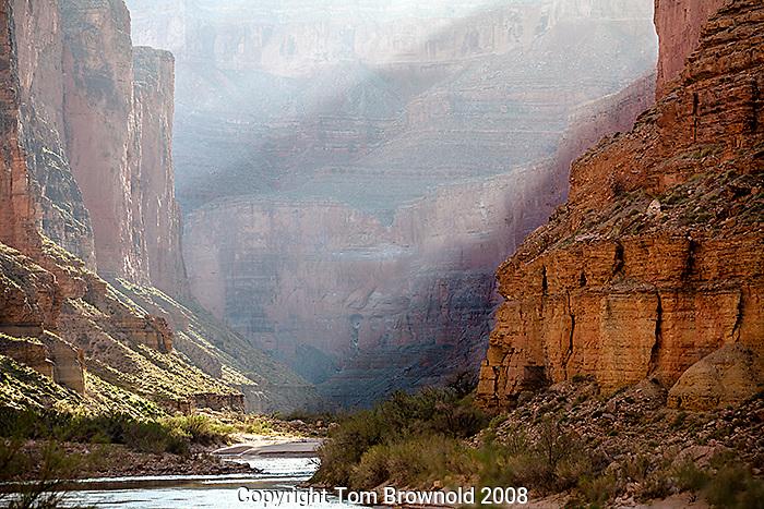 Morning light on the colorado river, Grand Canyon