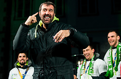 Veselin Vujovic, head coach during reception of Slovenian National Handball Men team after they placed third at IHF World Handball Championship France 2017, on January 30, 2017 in Mestni trg, Ljubljana centre, Slovenia. Photo by Vid Ponikvar / Sportida