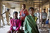 Building site families, Mumbai, India