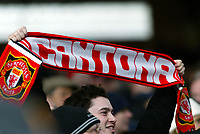 Fotball<br /> Premier League 2004/05<br /> Crystal Palace v Manchester United<br /> 5. mars 2005<br /> Foto: Magne J. Nilsen<br /> NORWAY ONLY<br /> UNited fan with Cantona scarf