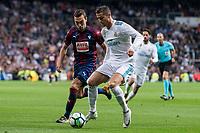 Real Madrid Cristiano Ronaldo and Eibar Gonzalo Escalante during La Liga match between Real Madrid and Eibar at Santiago Bernabeu Stadium in Madrid, Spain. October 22, 2017. (ALTERPHOTOS/Borja B.Hojas)