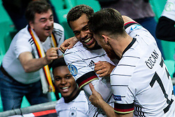 LJUBLJANA, SLOVENIA - JUNE 06: Lukas Nmecha of Germany celebrates with Salih Özcan of Germany after scoring their side's first goal  during the 2021 UEFA European Under-21 Championship Final match between Germany and Portugal at Stadion Stozice on June 6, 2021 in Ljubljana, Slovenia. Photo by Grega Valancic / Sportida