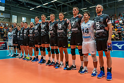 12-06-2019 NED: Golden League Netherlands - Estonia, Hoogeveen<br /> Fifth match poule B - The Netherlands win 3-0 from Estonia in the series of the group stage in the Golden European League / Team Estonia line up