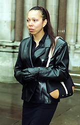 Russian model, Angela Ermakova, leaves the High Court, London, after a hearing relating to the 12-month old child she shares with the German tennis star, Boris Becker.