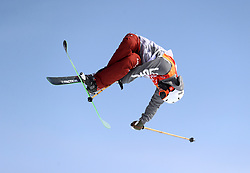 USA's Alex Hall at the Bogwang Snow Park during day nine of the PyeongChang 2018 Winter Olympic Games in South Korea. PRESS ASSOCIATION Photo. Picture date: Sunday February 18, 2018. See PA story OLYMPICS Slopestyle. Photo credit should read: Mike Egerton/PA Wire. RESTRICTIONS: Editorial use only. No commercial use.