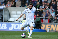 Gylfi Sigurdsson of Swansea city in action.Premier league match, Swansea city v Middlesbrough at the Liberty Stadium in Swansea, South Wales on Sunday 2nd April 2017.<br /> pic by Andrew Orchard, Andrew Orchard sports photography.