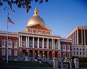 State House, built in 1795, Capitol of Massachusetts, Boston National Historical Park, Boston, Massachusetts.
